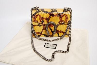 Сумка Gucci dionysus python mini chain